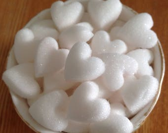 100 White Heart Shaped Sugar Cubes For All Occasions