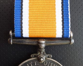 1914-18 Silver British War Medal Named To Corporal T.J.Washer. Welsh Regiment. Interesting With Research Papers
