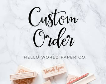 Custom Order Nataliya Taneva-.5 x.5 inch logo stamp