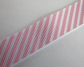 Pretty pink and white stripe Ribbon