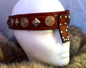 Small Conan Barbarian Leather Headband No. 2