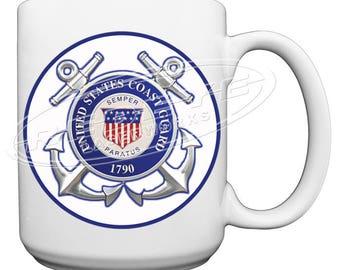 US Coast Guard Large 15 oz. Coffee Mug