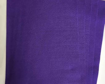 5x Purple Felt Sheets