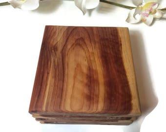 Handmade Red Cedar Wood Coasters Set Of 4