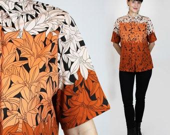 70s Collar Shirt Womens