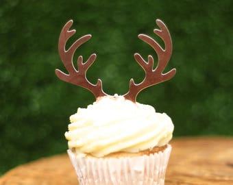 Reindeer antler cupcake toppers