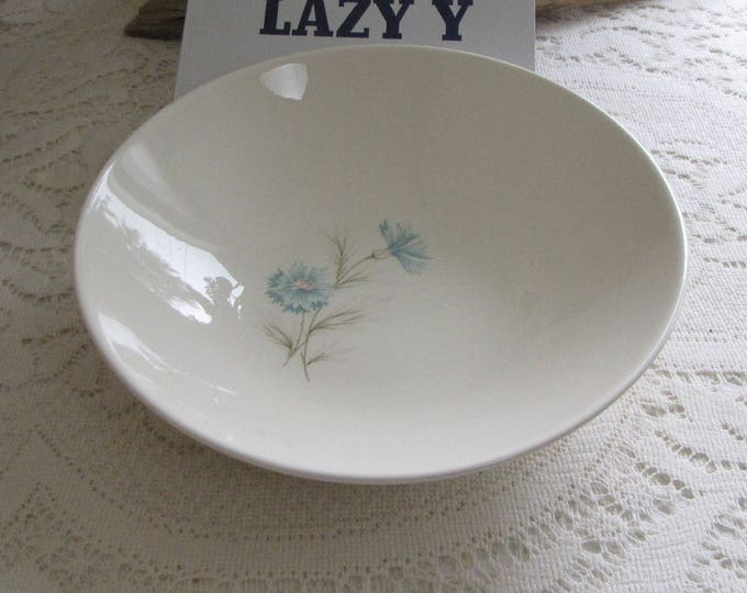 Blue Boutonniere Vegetable Bowl Vintage Taylor, Smith & Taylor Ever Yours Series Mid Century Dinnerware