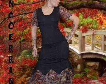 Set Top and skirt long asymmetrical 'a little color...'