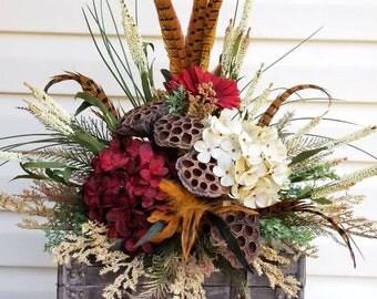 Floral arrangements, silk floral arrangements, Tuscan arrangements, rustic arrangements,hydrangea arrangements,Large floral arrangements