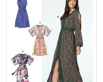 McCall's Sewing Pattern M7624 Misses' Banded Dresses with Sleeve and Length Options
