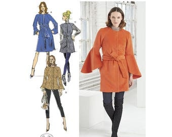 Simplicity Sewing Pattern 8469 Misses' Coat and Vest with Length Variations