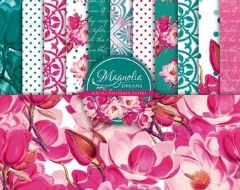 Magnolia Dreams - Digital Paper Pack