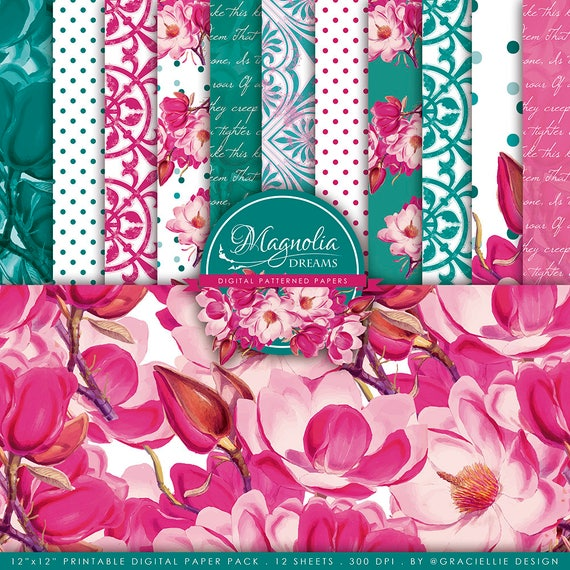 Graciellie Design Magnolia Dreams digi paper set