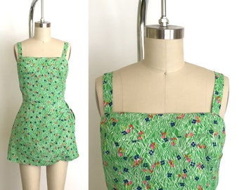 Vintage 1960s swimsuit // 60s sarong bathing suit