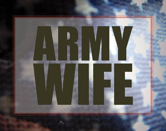 Military Wife Decal