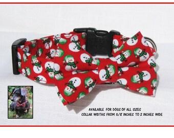 Christmas dog bowtie | Etsy