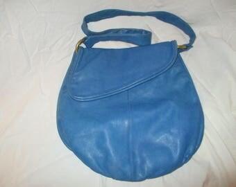 Vintage Bloomingdales leather hobo bag