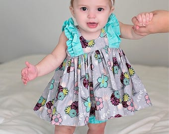 Easter Dress, Spring Dress, Floral Dress, Baby Girl Dress, Toddler Dress, Little Girl Dress, Summer Dress, Sizes 3/6mths-Girls 9/10