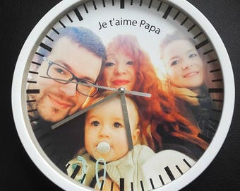 !! CUSTOMIZABLE! clock wall decor custom father's day