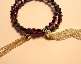 Iridescent Beads with Memory Wire