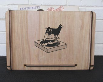 Vinyl Record Storage Crate and Organizer For the Recorded Audio Lover or Secret Santa