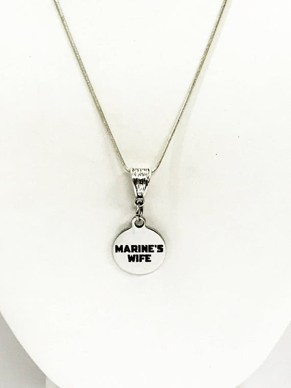 Marine's Wife Jewelry, Marine's Wife Necklace Gift, Wife Jewelry Gift, Marine Supporter, Proposal Gift, Proposal Jewelry,  Engagement Gift
