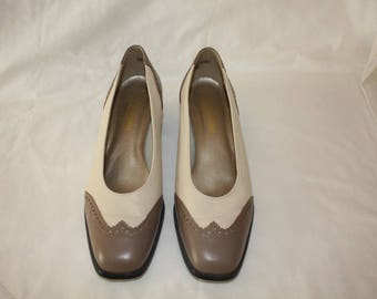 Taupe Spectator Pumps size 10 M