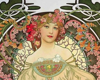 Laminated placemat art nouveau Mucha 3