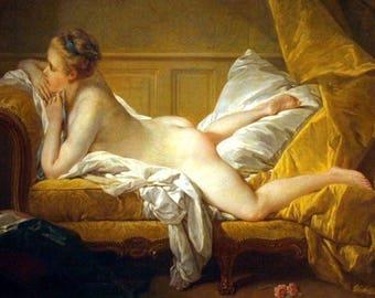"""Laminated placemat François Boucher """"blonde odalisque"""""""