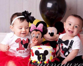 Minnie Mouse Cake Smash Birthday Outfit