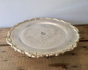Silverplate Pedestal Wedding Cake Stand, International Silver Co Joannne, Wedding Party Table Decoration, Wedding Centrepiece, Party Decor