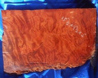 GW401  Redwood  burl slab with curly grain