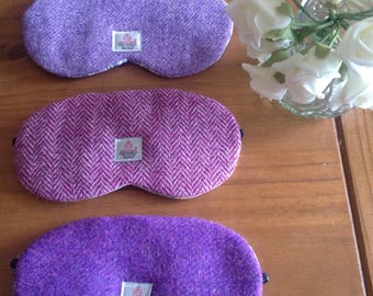 Harris Tweed Sleep /Eye Masks  | Light Purple Harris Tweed & Liberty Cotton Lavender scented