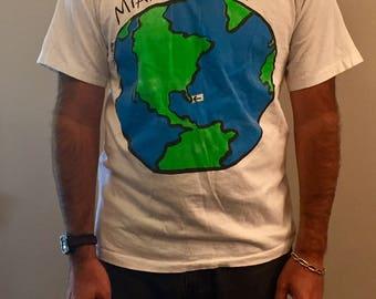 Vintage Miami beach t shirt // size L
