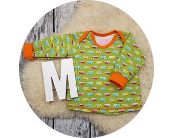 Longsleeve, Longsleeve, gift, baby, Mitwachsen shirt, shirt, sweater, baby shirt, American section, bus, car, Bulli, cars, cars