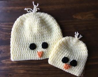 Crocheted Chick Hat - Bird Hat, Handmade