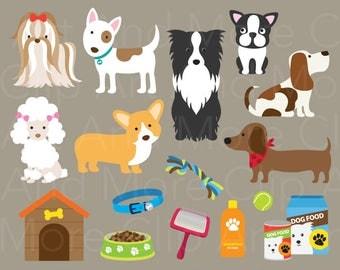 Dog Clipart Dog Clip Art Cute Dog Clipart Pet Clipart Poodle Clipart French Bulldog Clipart Shih Tzu Clipart Corgi Clipart Instant Download