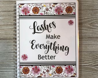 Lash Expert Yearly Appointment Book with Income Tracking