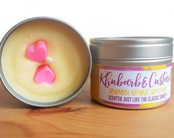 Rhubarb and Custard Natural Soy Wax Candle
