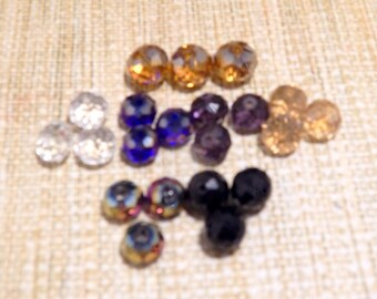 12mm Multicolor Roundel Swarovski Type Crystal Glass Abacus Beads for Beading Supplies DIY Earrings Necklace Bracelet