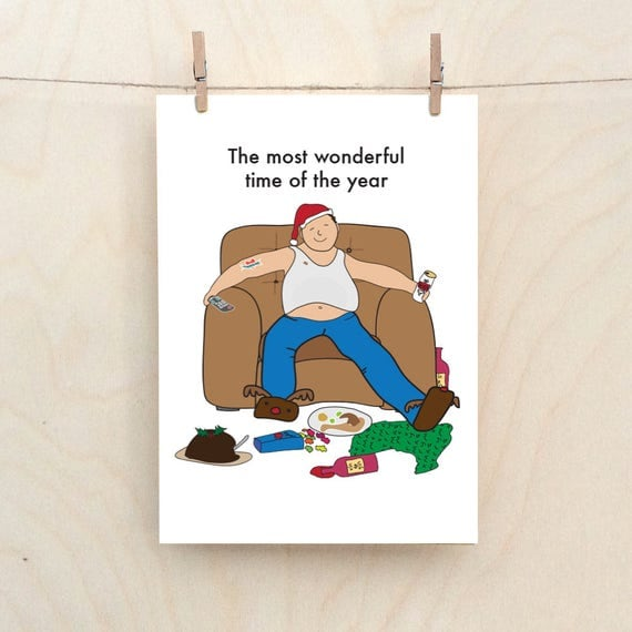 The Most Wonderful Time of the Year, Funny Family xmas card, drunk xmas, , Funny Christmas card