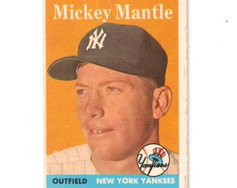 1958 Topps Mickey Mantle VG