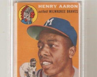 1954 Topps Hank Aaron Rookie PSA 2 Good