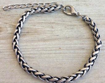 Mens Silver Bracelet , Mens Bracelet , Mens Chain Bracelet , Mens Gift , Bracelet For Man , Guy Bracelet , Boyfriend Bracelet