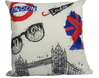 London Tourist British Scene - Pillow Cover