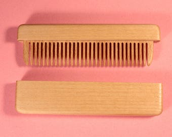 Wooden comb of lime wood