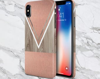 Scratched Rose Gold Wood Phone Case,  iPhone X, iPhone 8 Plus, Protective iPhone Case, Galaxy s8, Samsung Galaxy Case Note 8, CASE ESCAPE