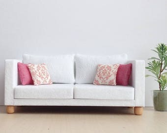 Doll furniture Sofa  Felt with 4 pillows