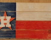 Houston Astros wood Flag, NFL, NBA, MLB, College, High School, Any team Shipping included in the usa
