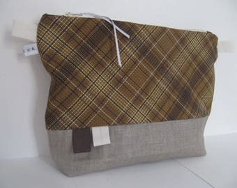 Toiletry bag by Michael Miller coffee with or without handle